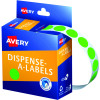 AVERY DMC14FG DISPENSER LABEL Circle 14mm Green