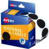 AVERY DMC24BL DISPENSER LABEL Circle 24mm Black