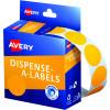 AVERY DMC24FO DISPENSER LABEL Circle 24mm Orange