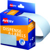 AVERY DMR7627W DISPENSER LABEL Rectangle 76x27mm White