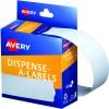AVERY DMR10124W DISPENSR LABEL Rectangle 101x24mm White