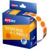 AVERY DMC14O DISPENSER LABEL Circle 14mm Orange