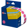 AVERY DMC14P DISPENSER LABEL Circle 14mm Pink