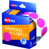 AVERY DMC24P DISPENSER LABEL Circle 24mm Pink