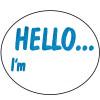 AVERY DMO5843HE DISPENSR LABEL Printed  Hello I'm 58x43 Blue