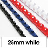 REXEL BINDING COMB 25mm 21 Loop 225Sht Cap White