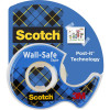 SCOTCH 183 TAPE DISPENSER Wall Safe Removable Clear 19mm X 16.5m