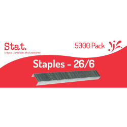 STAT STAPLES 26/6 Silver Box of 5000