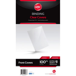 IBICO BINDING COVERS A4 250 Micron Clear 100Pk
