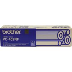 BROTHER PC402RF REFILL ROLLS Fax Refills X2 Black