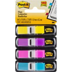 POST-IT  683-4AB MINI FLAGS 9x43mm Blue Pink Purple Yellow