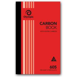 OLYMPIC RULED CARBON BOOKS 605 Trip 100Leaf 200x125mm