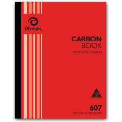 OLYMPIC RULED CARBON BOOKS 607 Trip 100Leaf 250x200mm