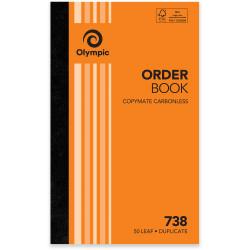 OLYMPIC CARBONLESS ORDER BOOK 738 Dup 50Leaf 200x125mm