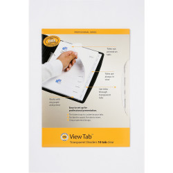 MARBIG VIEW TAB DIVIDERS A4 PP 10 Tab Clear