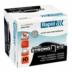 RAPID 9/12 STAPLES 12mm Heavy Duty BX5000