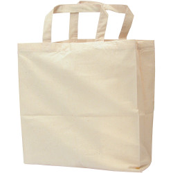 Zart Calico bag With Handles 35x45cm Beige Pack of 10