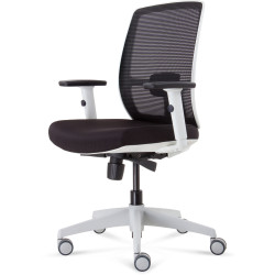 RAPIDLINE LUMINOUS MESH CHAIR Black Fabric White Frame