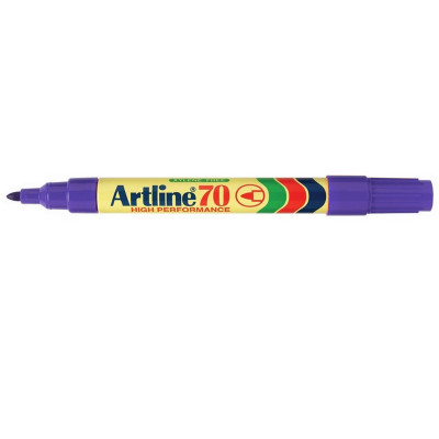 ARTLINE 70 PERMANENT MARKERS Med Bullet Purple Pack Of 12