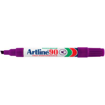ARTLINE 90 PERMANENT MARKERS Med Chisel Purple Pack Of 12