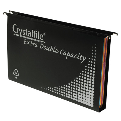 CRYSTALFILE SUSPENSION FILES PP Complete DBL Capacity Black