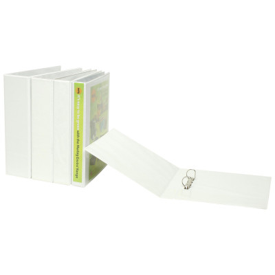 MARBIG ENVIRO INSERT BINDERS Clearview A4 2D Ring 65mm Wht