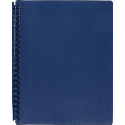 MARBIG REFILLABLE DISPLAY BOOK A4 20 Pocket Dark Blue