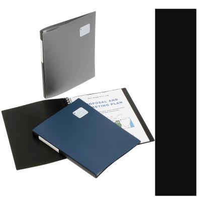 MARBIG REFILLABLE DISPLAY BOOK Pro Series A4, 20Pocket Black