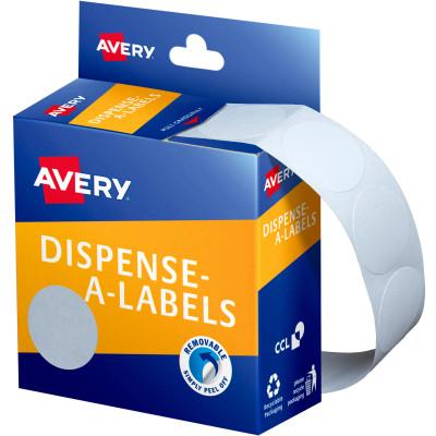 AVERY DMC24W DISPENSER LABEL Circle 24mm White