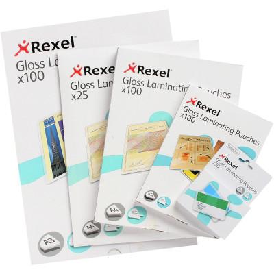 REXEL LAMINATING POUCHES A4 2x100mic Pk100