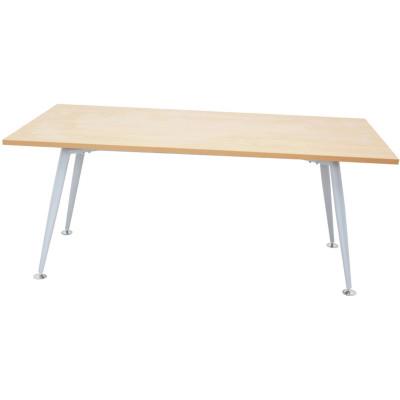 RAPID SPAN MEETING TABLE W1800xD900mm Beech Top Silver Legs