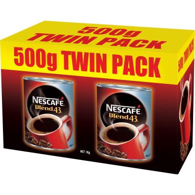 NESCAFE BLEND 43 COFFEE 500gm Twin Pack